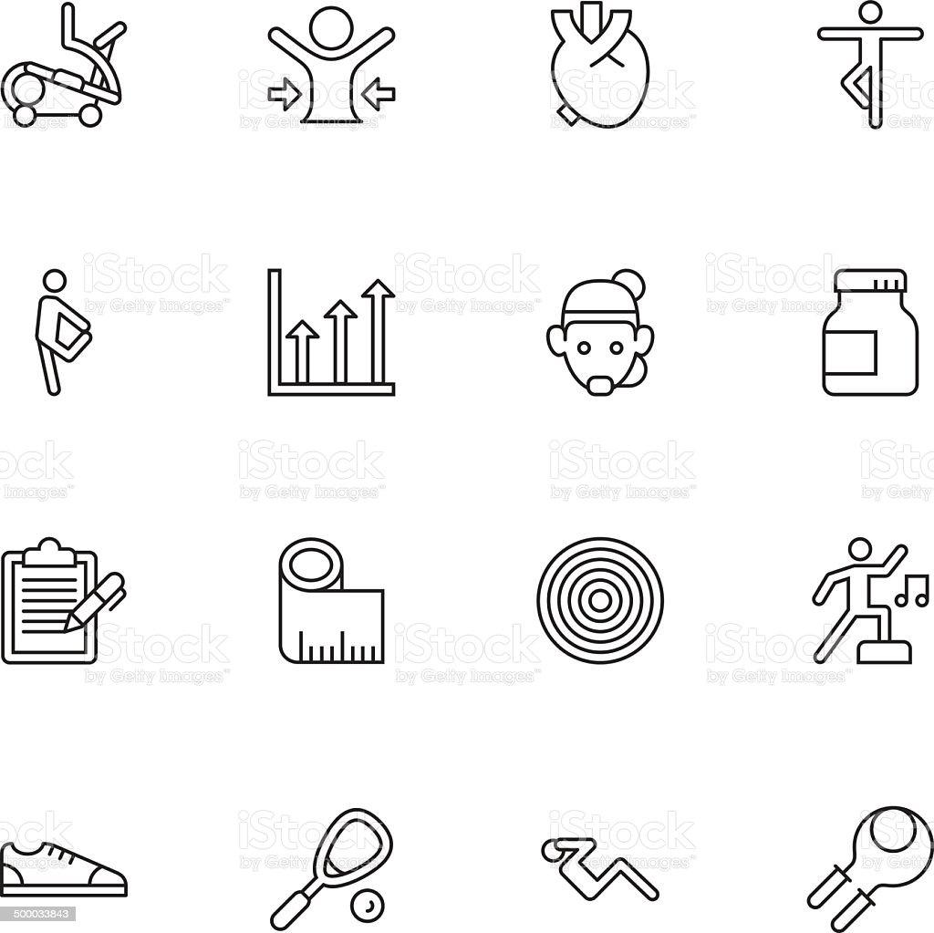 Fitness Icons | set 2 - Light vector art illustration