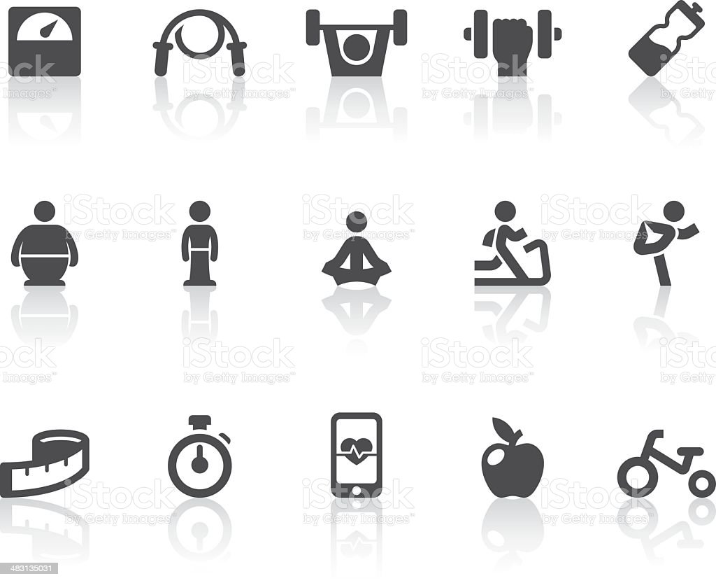 Fitness Icons | Simple Black Series royalty-free stock vector art