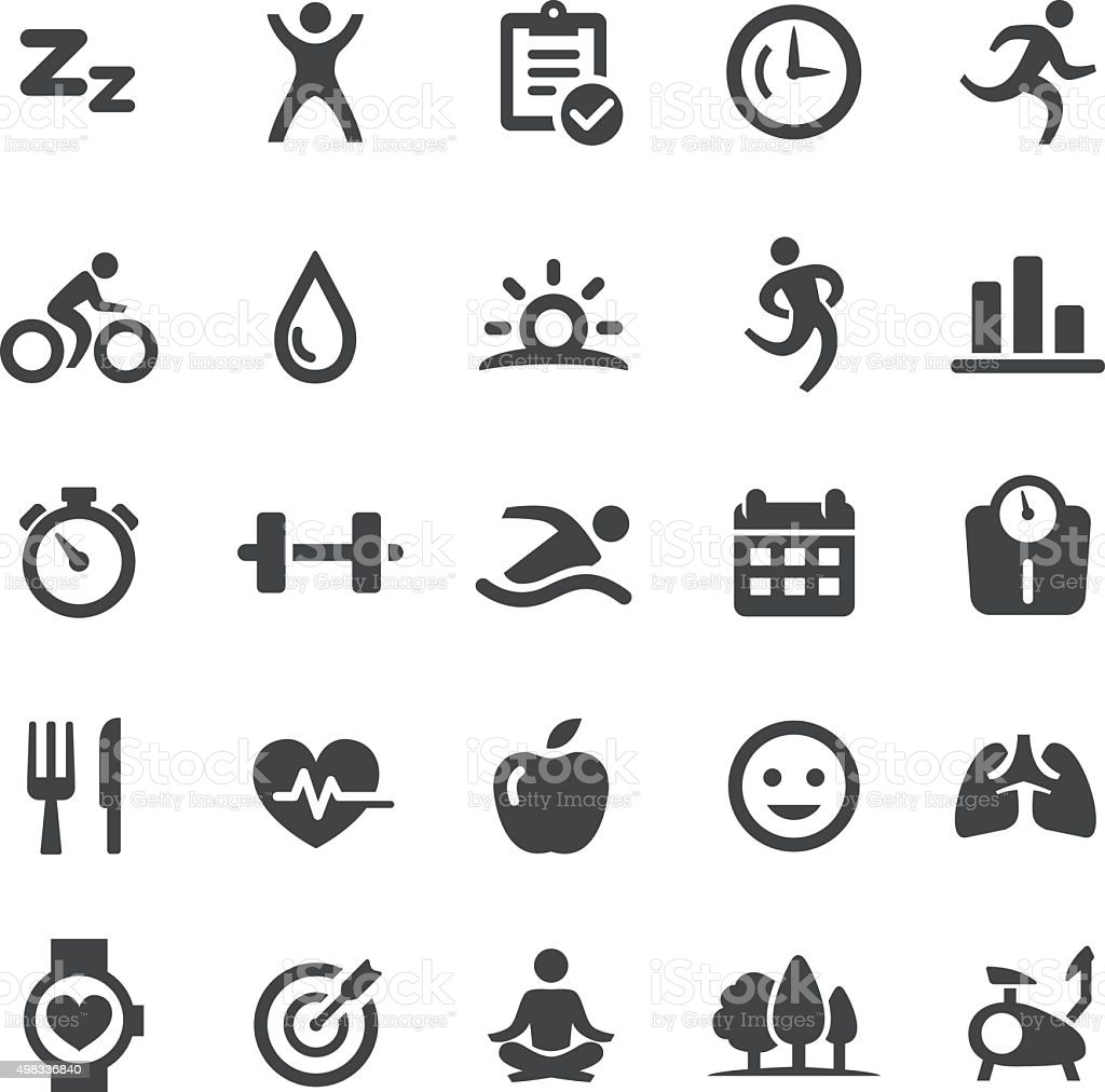 Fitness Icons - Smart Series vector art illustration