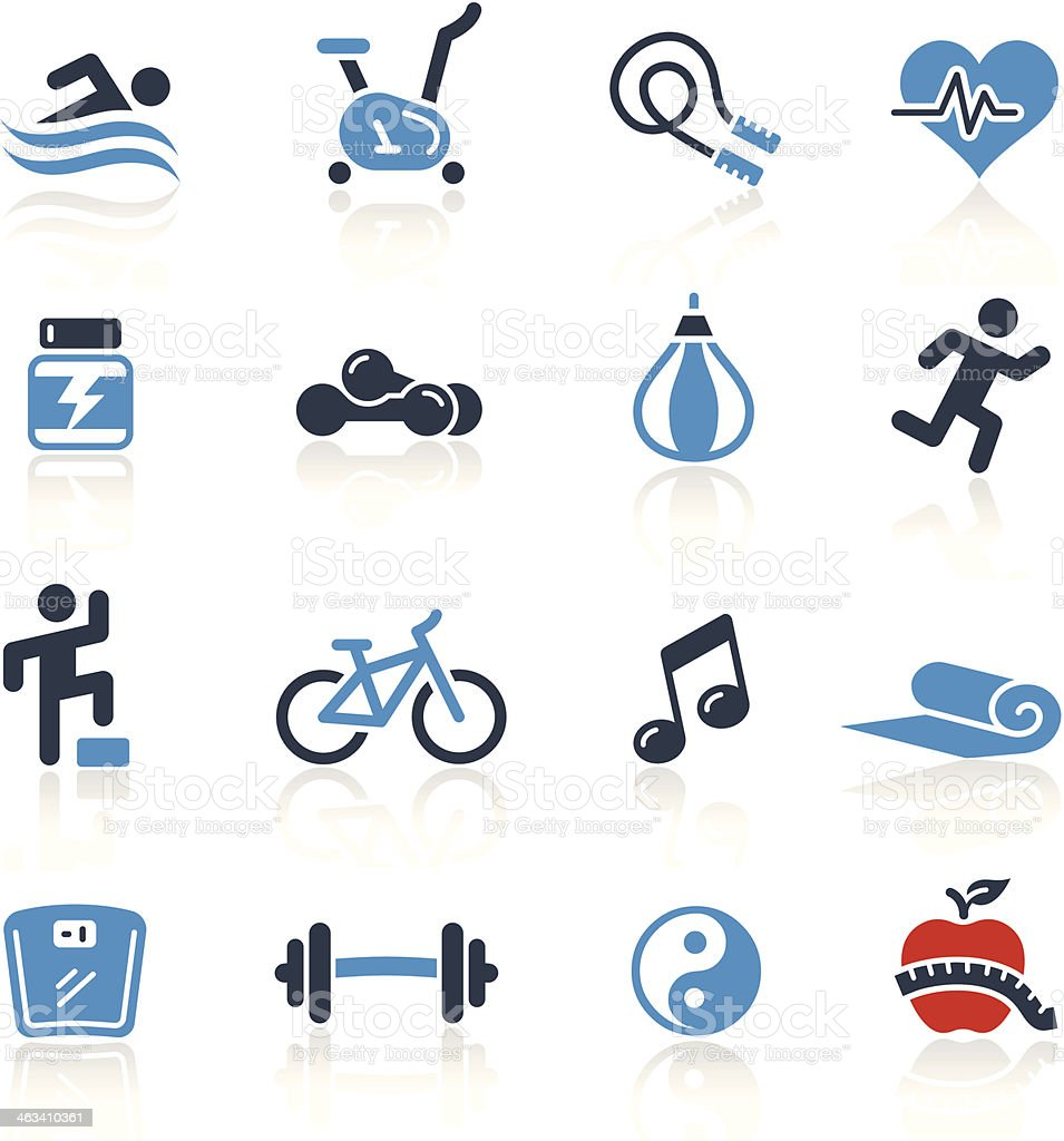 Fitness Icons Two Color | Pro Series vector art illustration