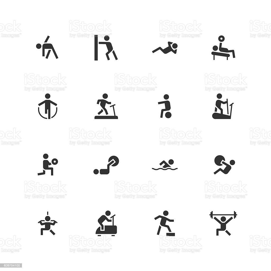 Fitness Icons - Unique vector art illustration