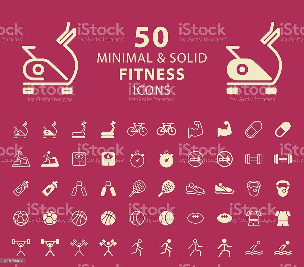 Fitness Icons. vector art illustration