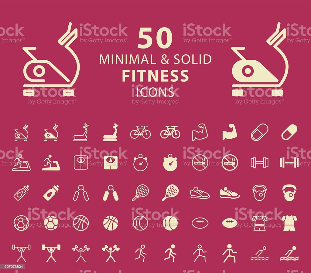 Fitness Icons. vector art illustration