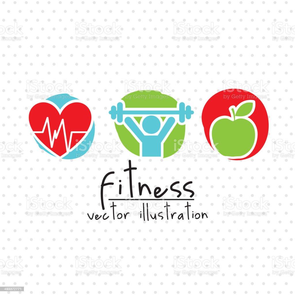 fitness illustration vector art illustration