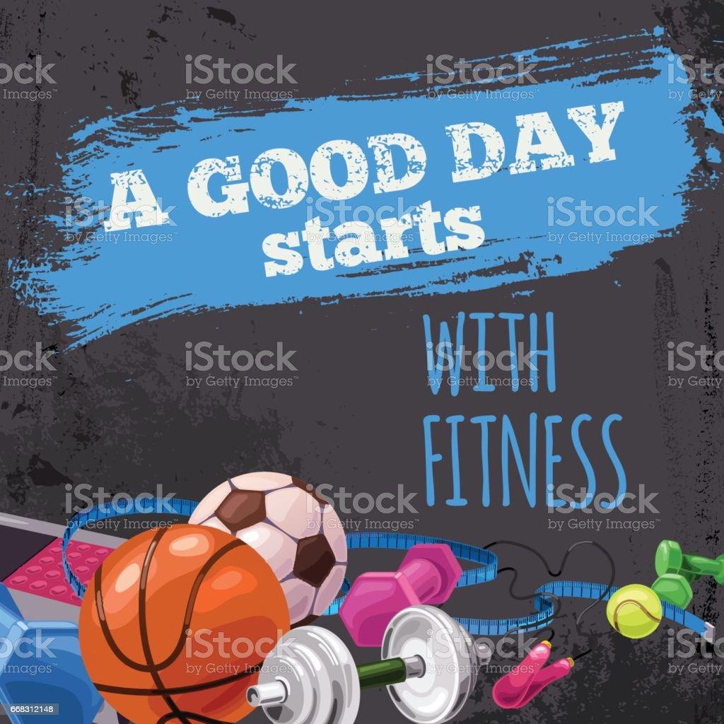Fitness is the best start vector art illustration