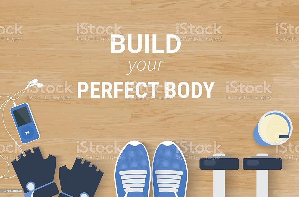 Fitness motivated background vector art illustration