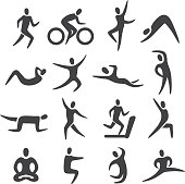 Fitness Posture Icons - Acme Series