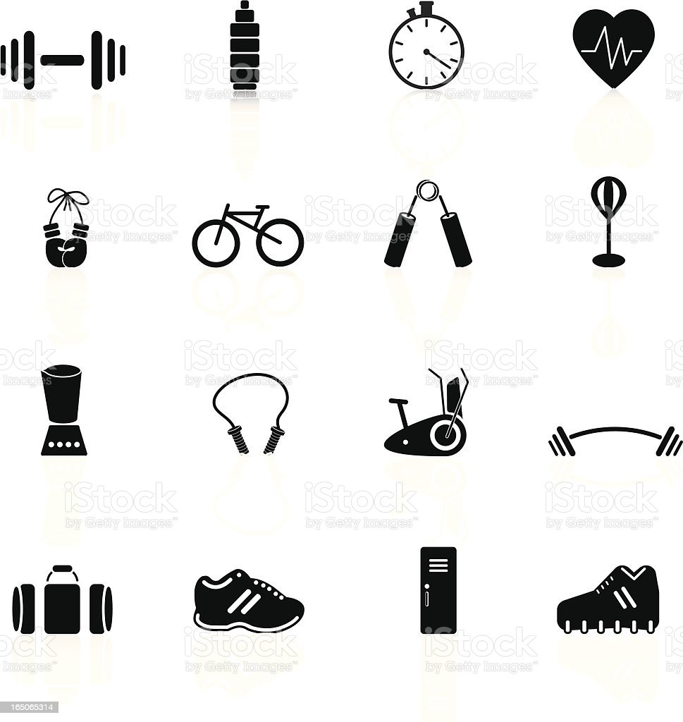 Fitness Series royalty-free stock vector art
