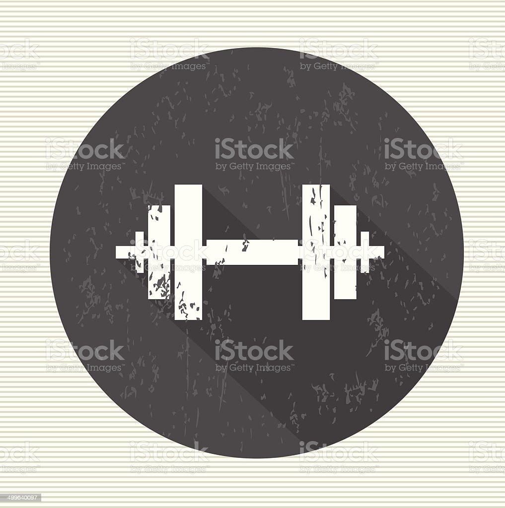 Fitness sign, vector vector art illustration