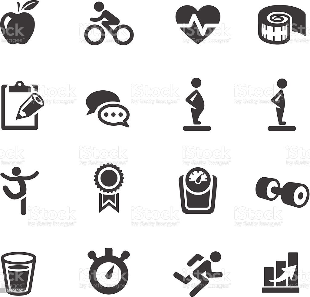 Fitness Symbols royalty-free stock vector art