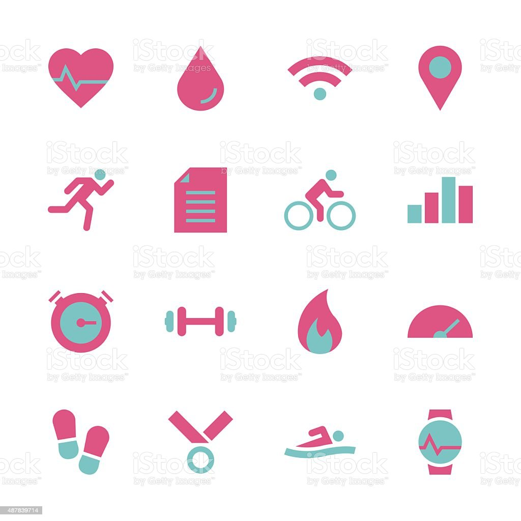 Fitness Tracker Icon - Color Series vector art illustration