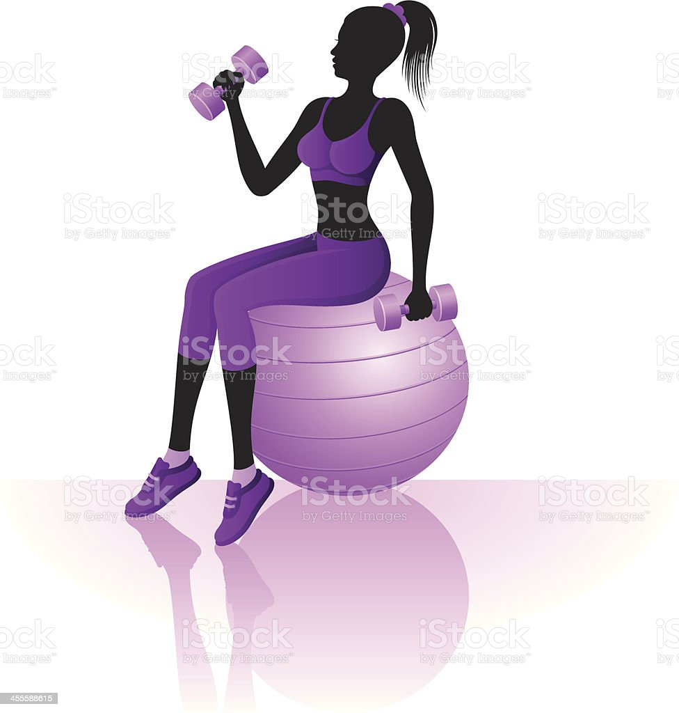 Fitness training royalty-free stock vector art