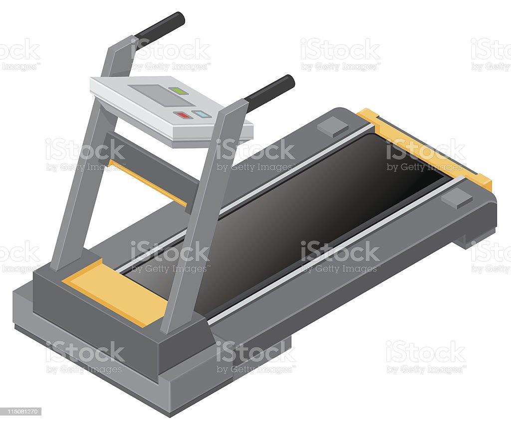 Fitness Treadmill vector art illustration