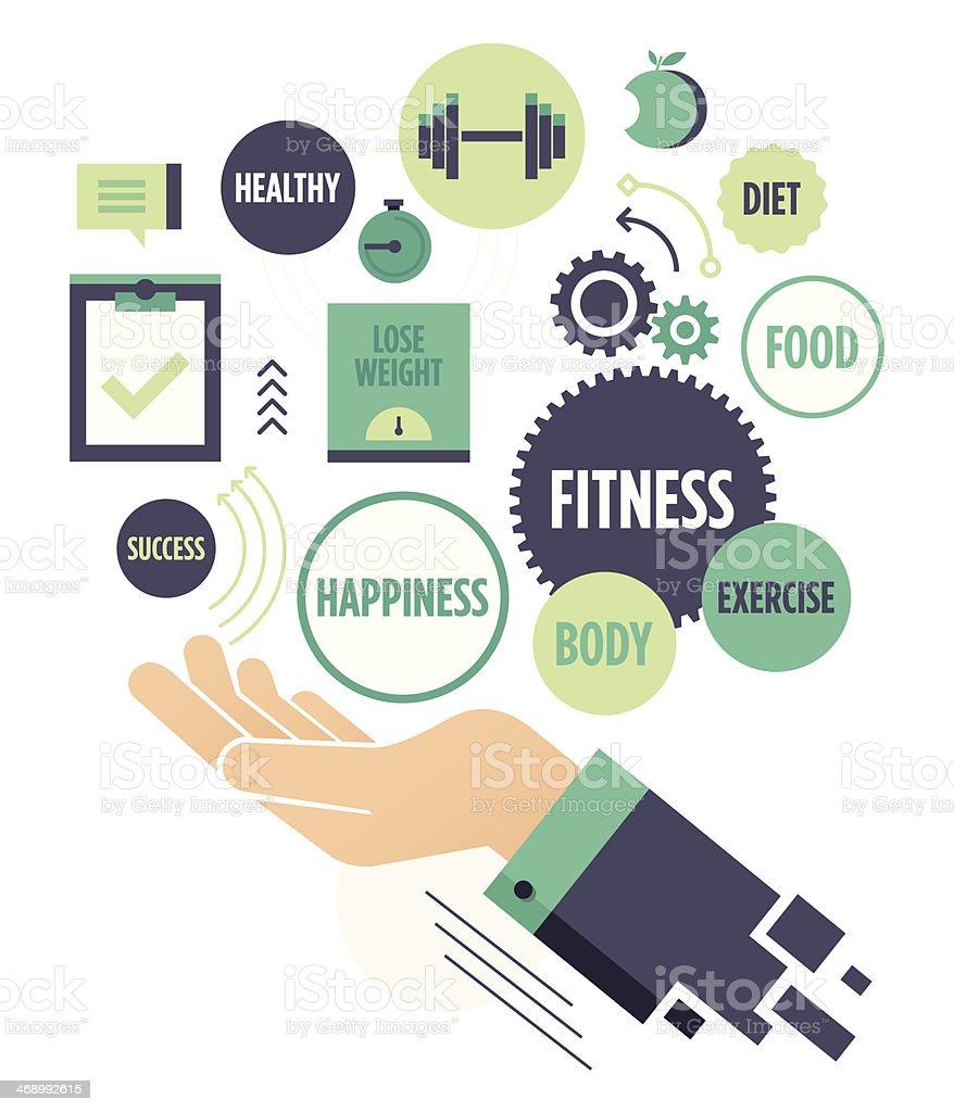 Fitness vector art illustration