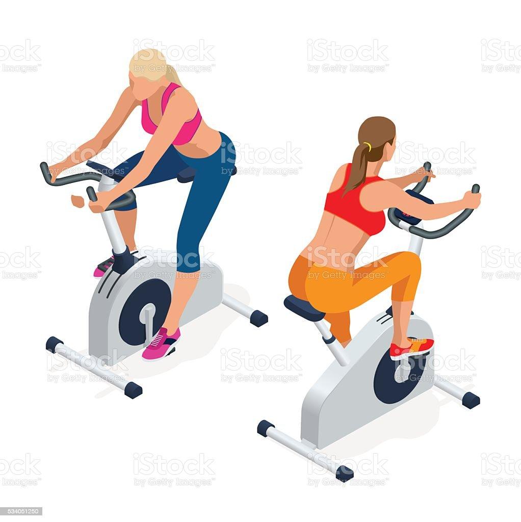 Fitness woman vector art illustration