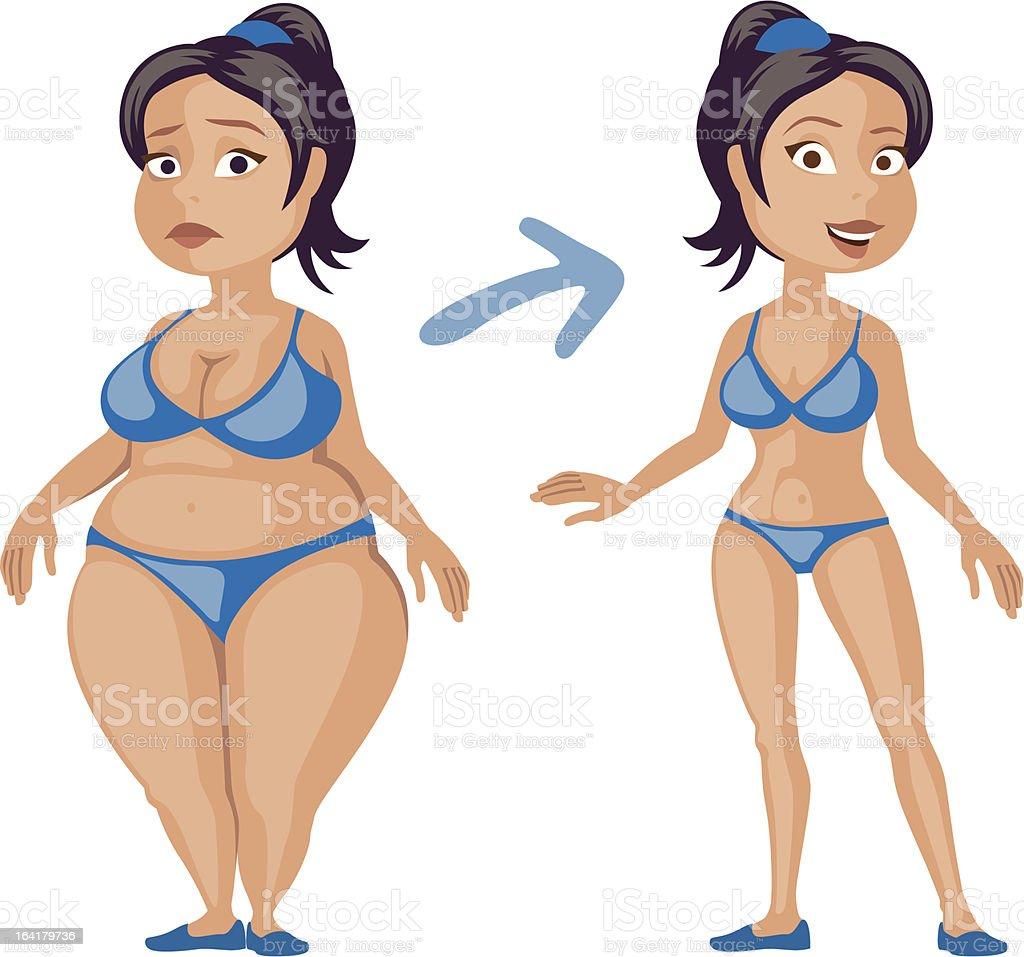 fitness-girl royalty-free stock vector art