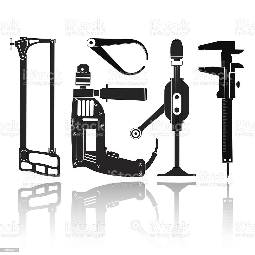 fitter's tool vector art illustration