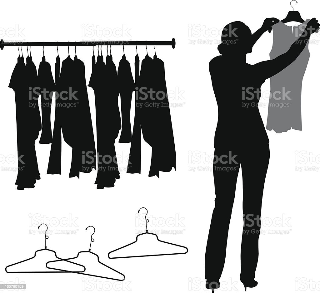 Fitting Vector Silhouette royalty-free stock vector art
