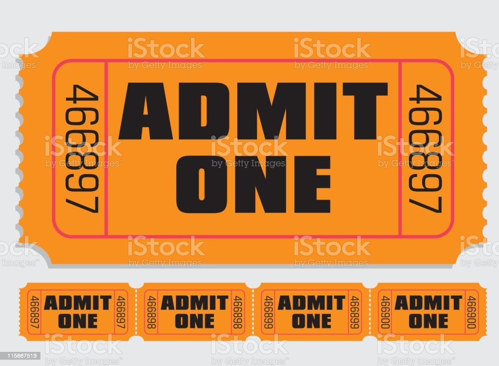 Five admit one ticket from a fairy royalty-free stock vector art