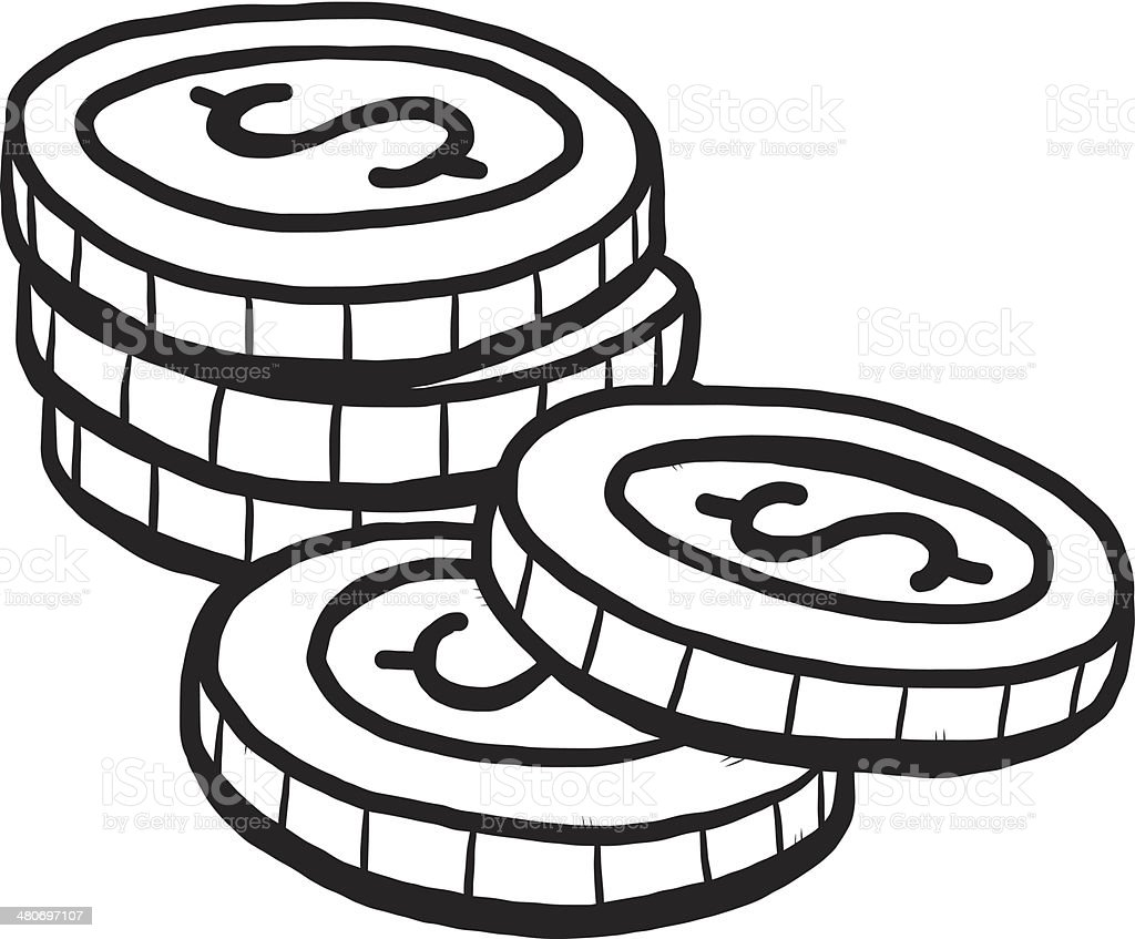 Five Coins Cartoon stock vector art 480697107 | iStock