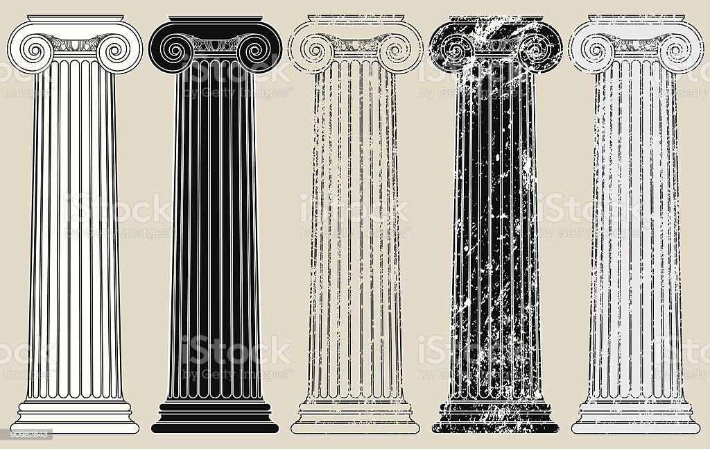 Five Columns vector art illustration