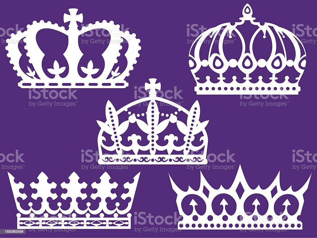 Five crowns royalty-free stock vector art