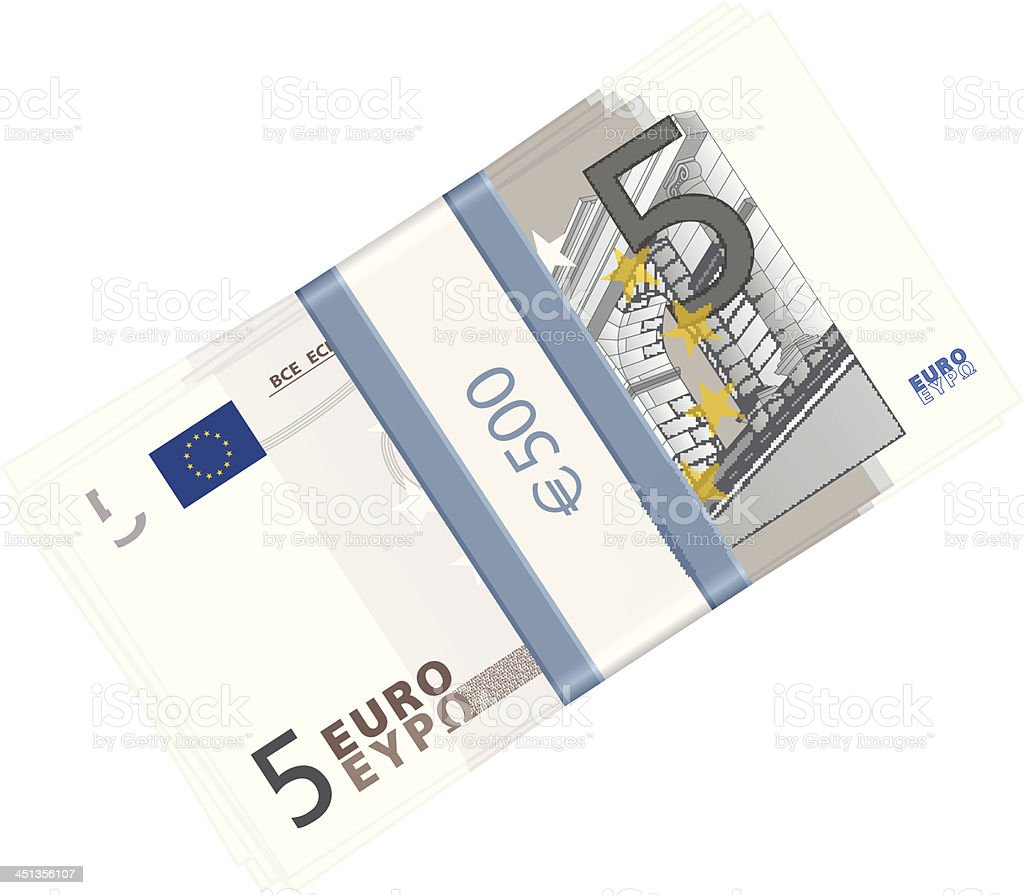 five euro pack royalty-free stock vector art