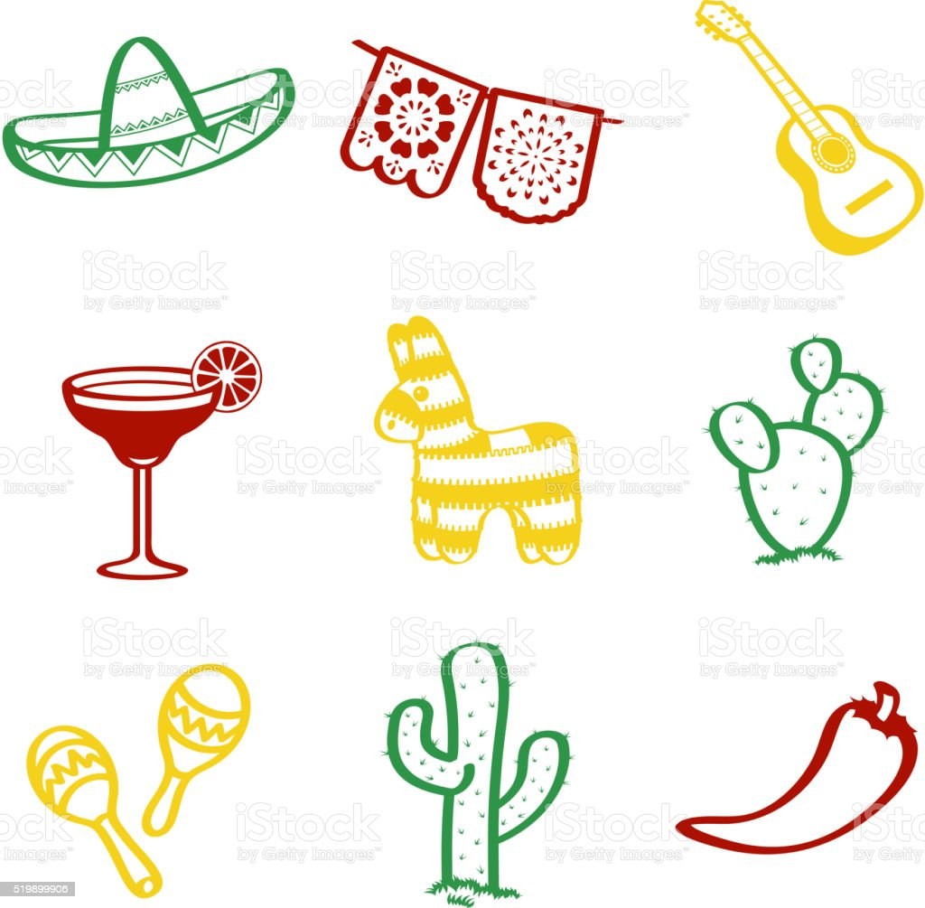 Cinco De Mayo Doddle vector art illustration