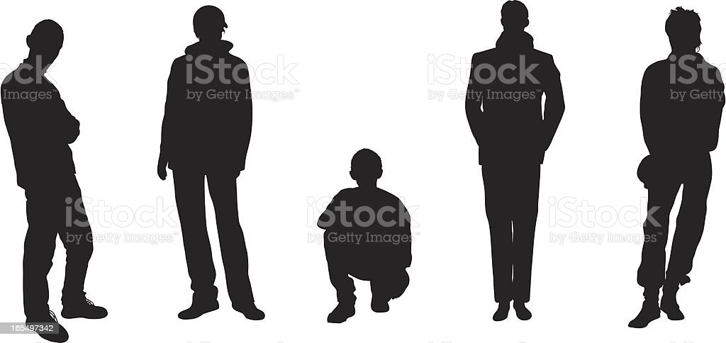 Five Men royalty-free stock vector art