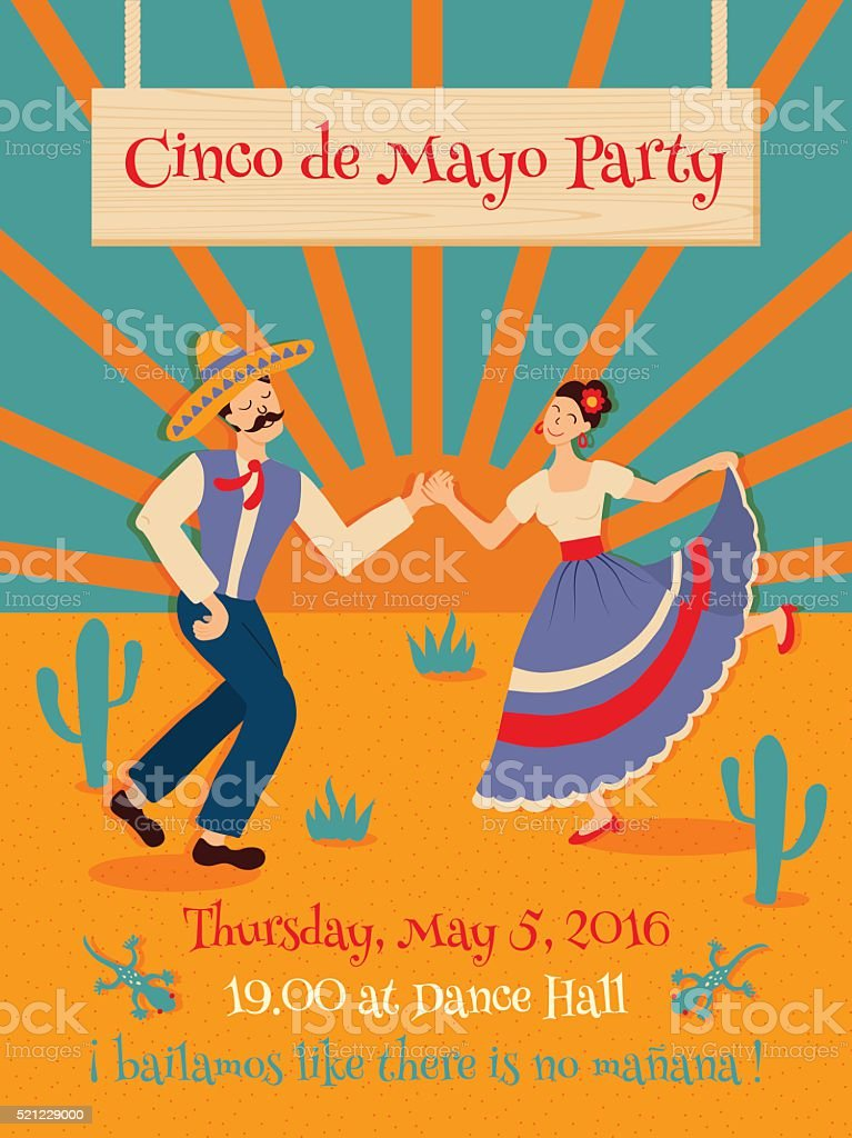 cinco de mayo poster vector art illustration