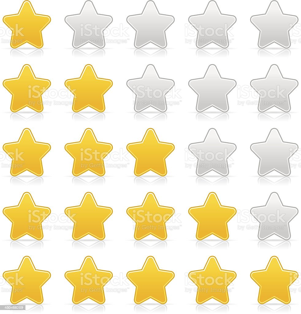 Five sign yellow star web icon internet rating royalty-free stock vector art
