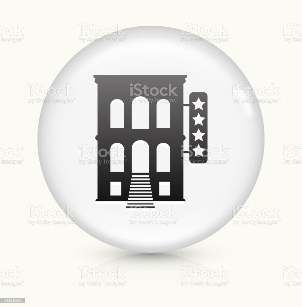 Five Star Hotel icon on white round vector button vector art illustration