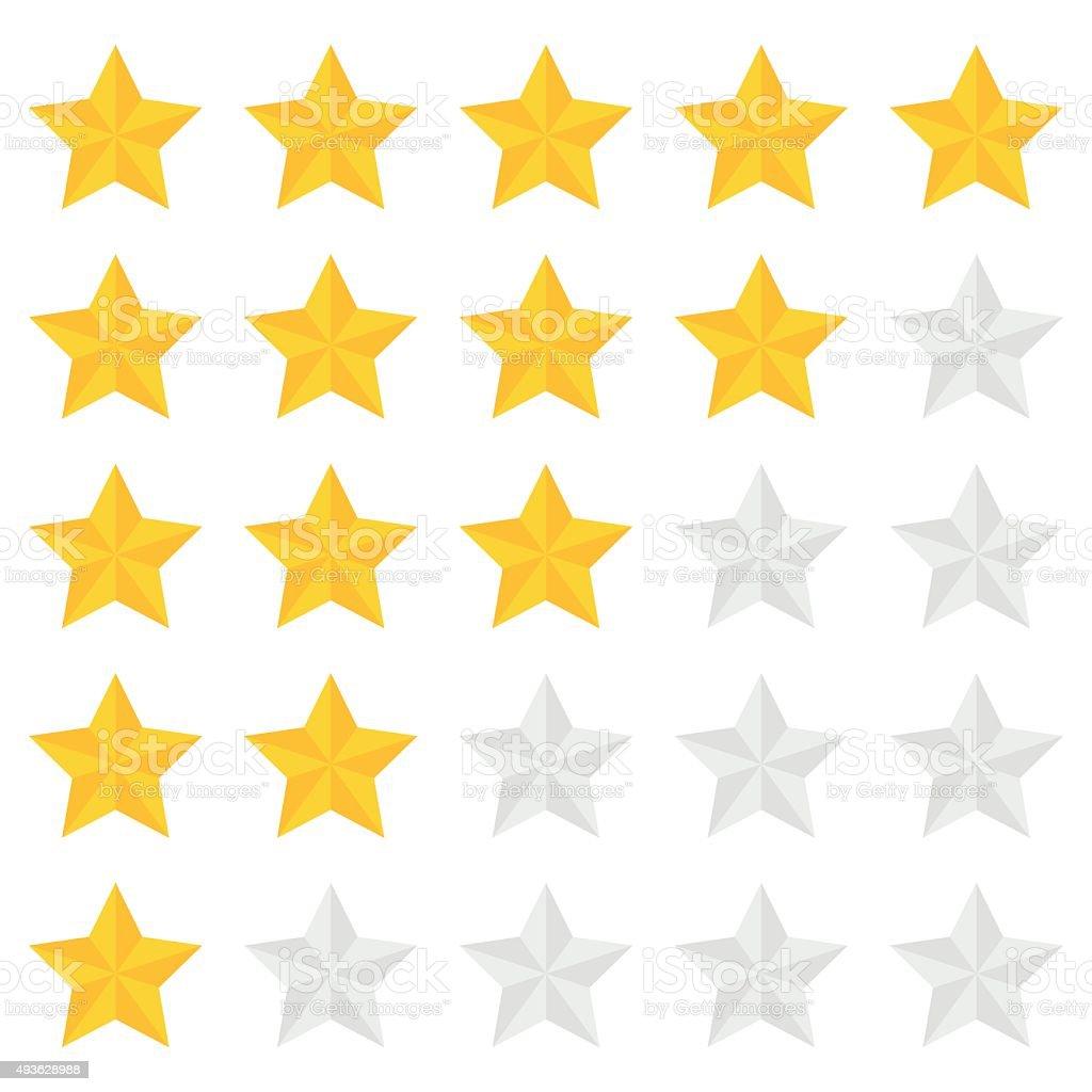 Five star ranking vector art illustration