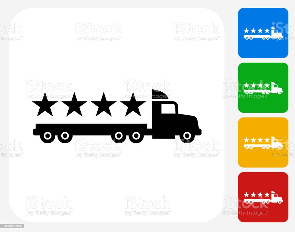 Five Star Shipping Icon Flat Graphic Design vector art illustration