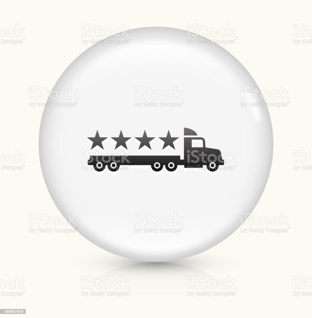 Five Star Shipping icon on white round vector button vector art illustration