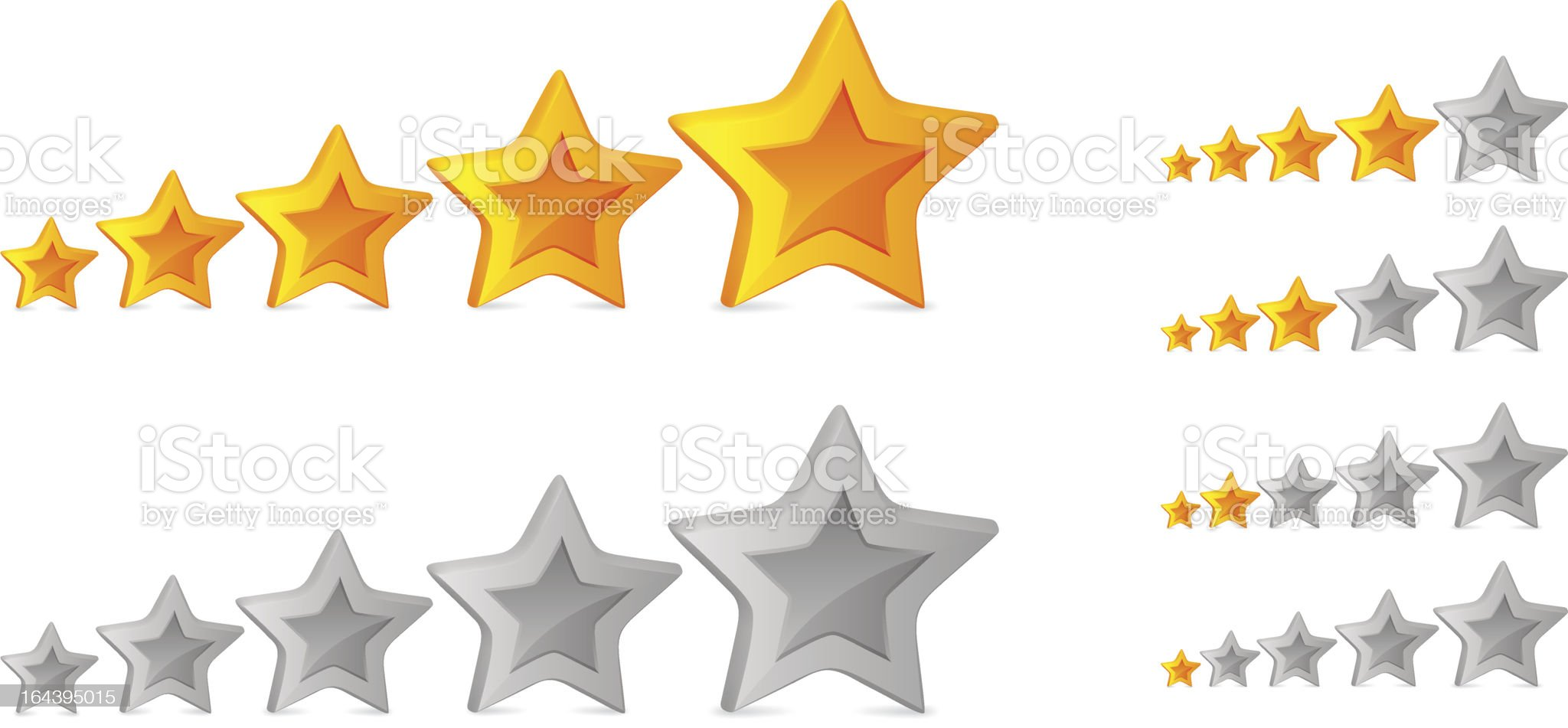 Five stars for ranking royalty-free stock vector art