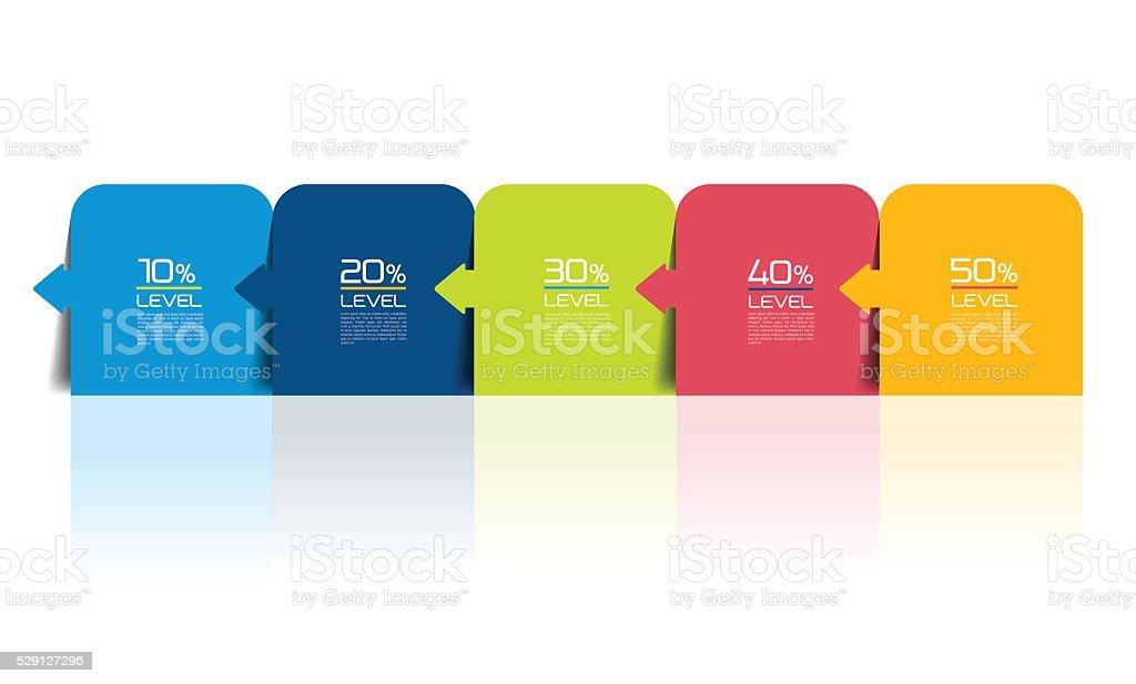 Five steps infographics report, template, chart, scheme. Vector. vector art illustration