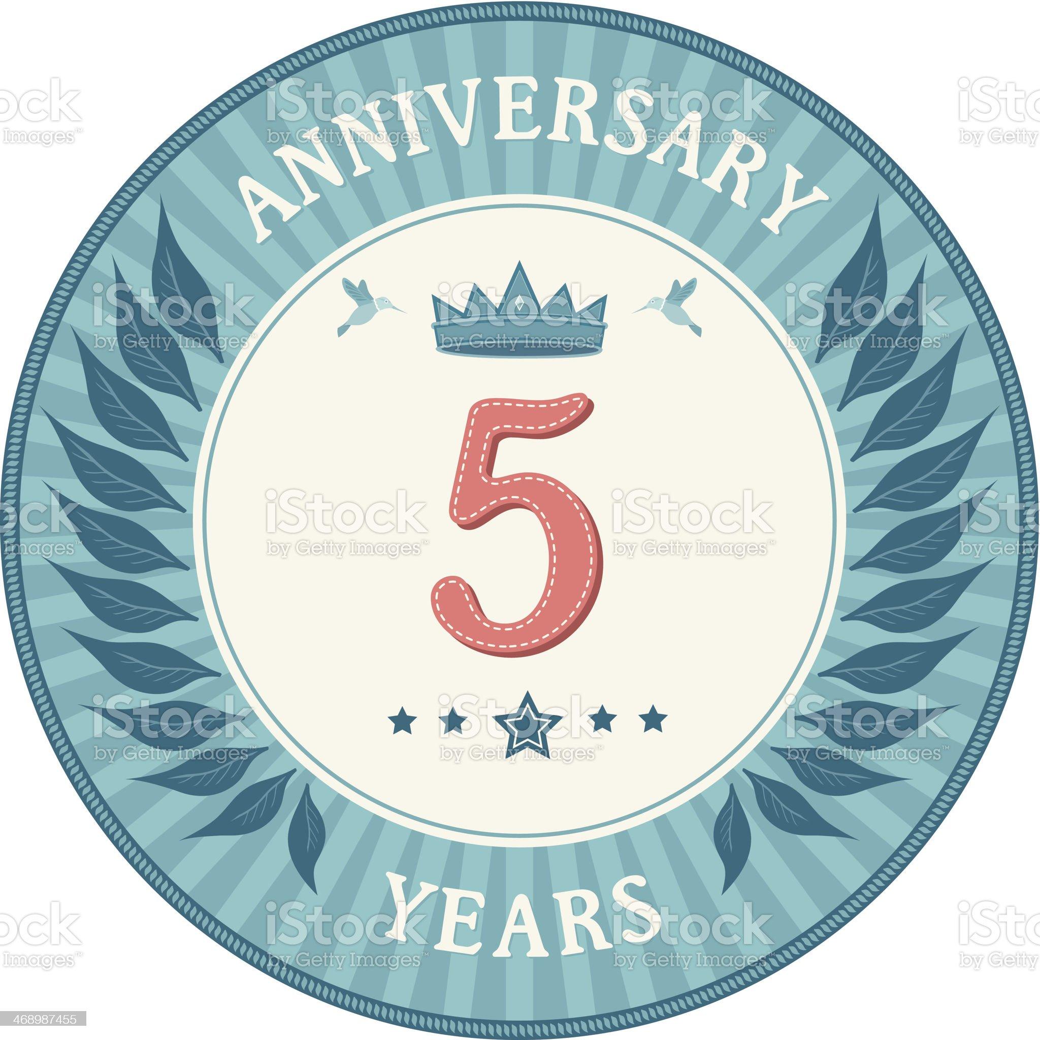 Five Years Anniversary Badge royalty-free stock vector art