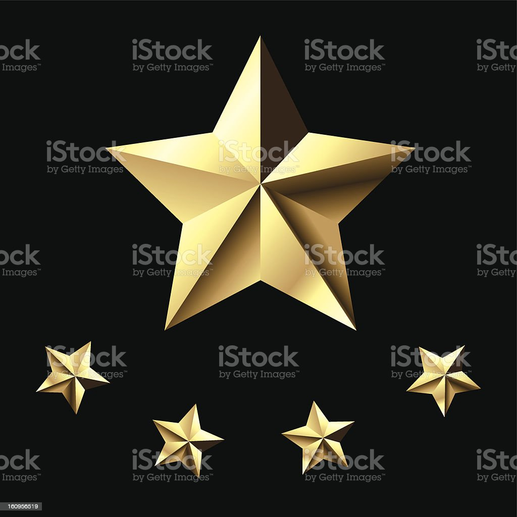 Five-star royalty-free stock vector art
