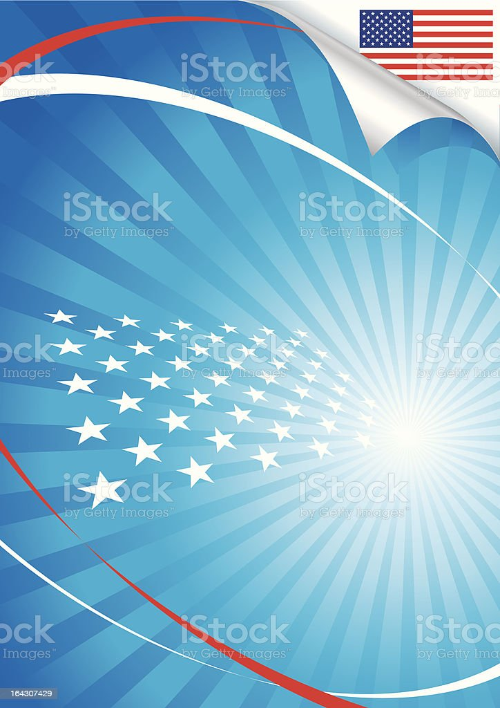 USA flag and background royalty-free stock vector art