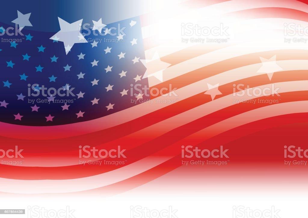 USA flag background design vector art illustration
