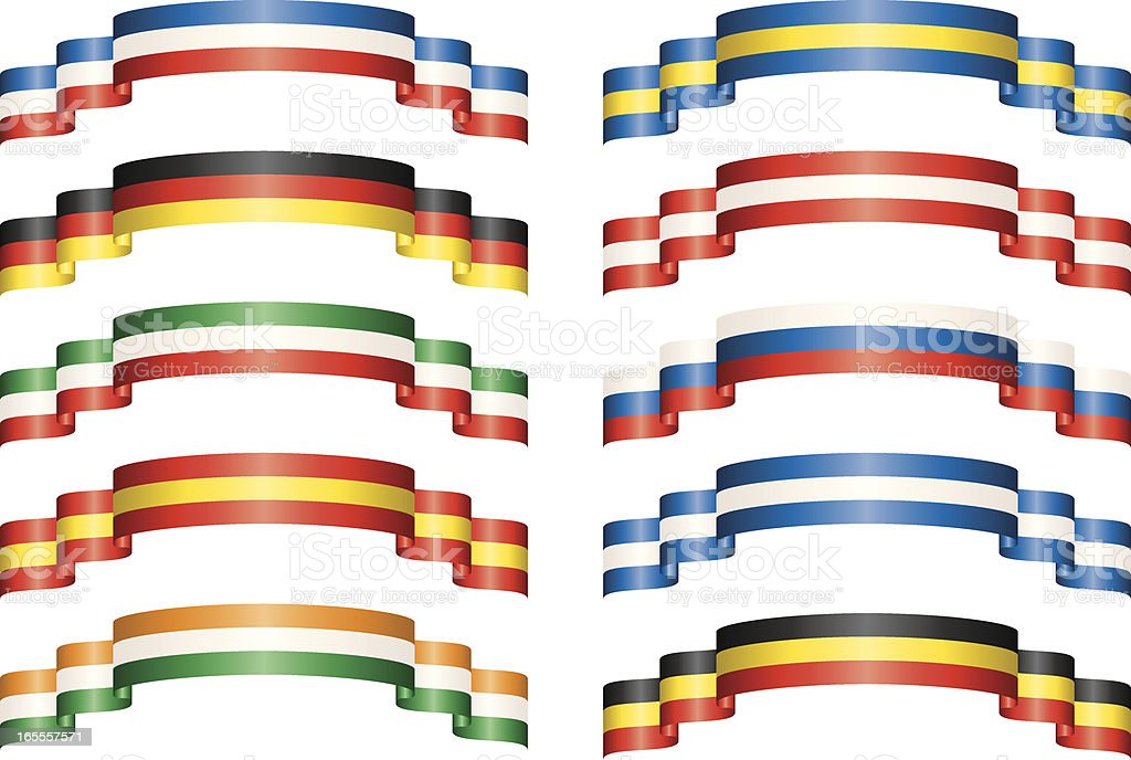 Flag Banners royalty-free stock vector art
