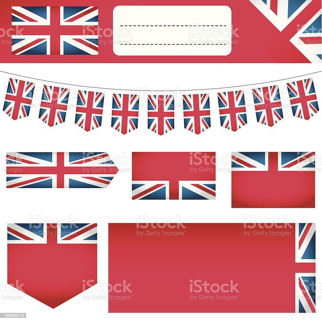 G.B. Flag Banners royalty-free stock vector art