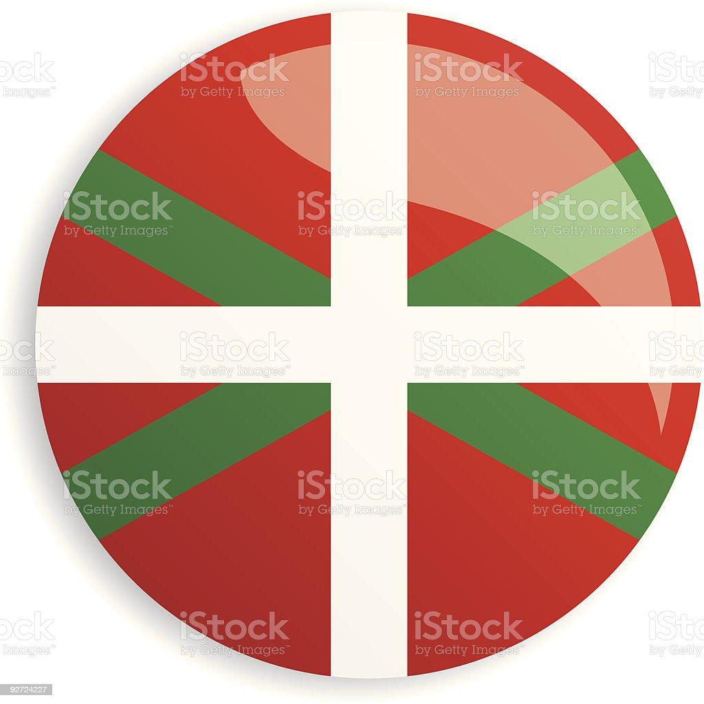 Flag Basque Country vector art illustration