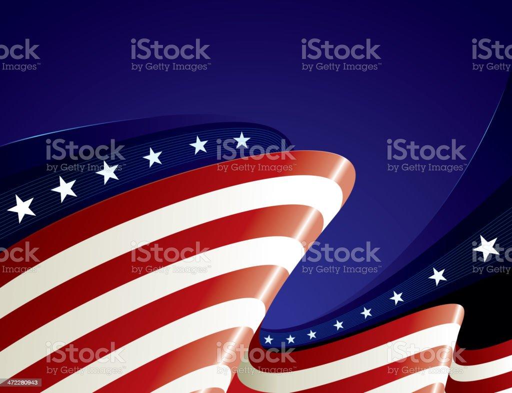 US Flag Bg royalty-free stock vector art