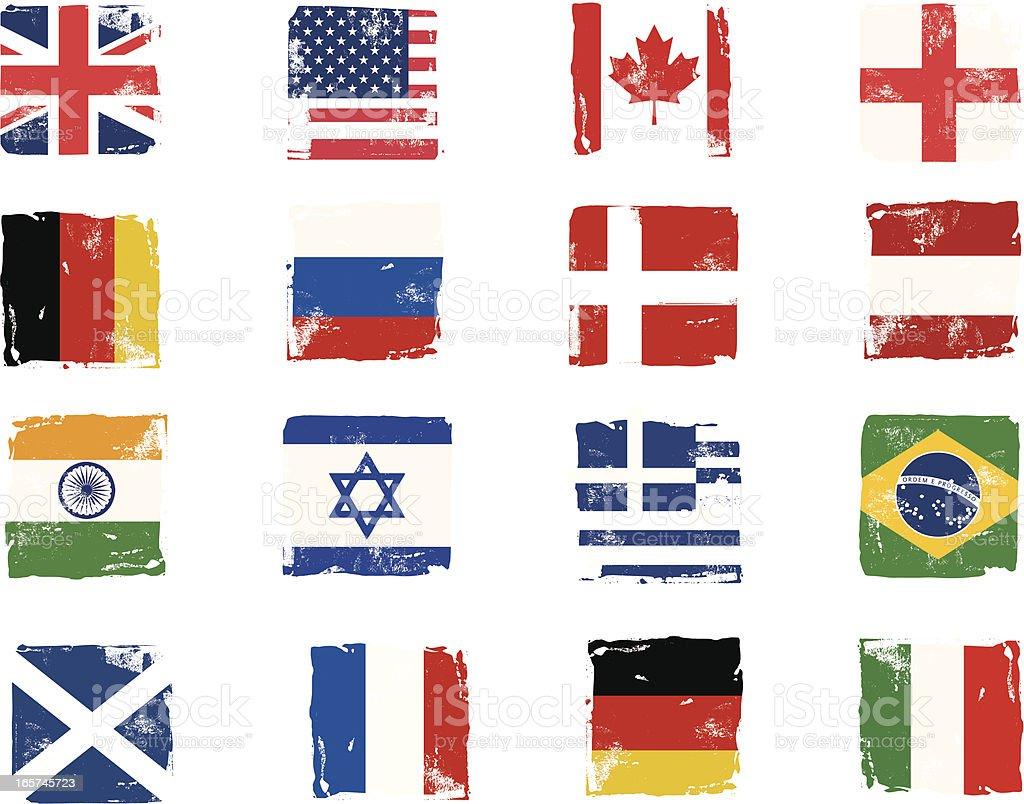 Flag block grunge icons royalty-free stock vector art