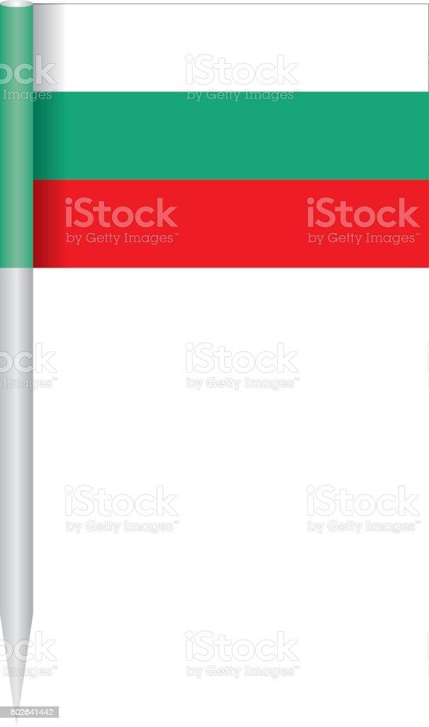 Flag Bulgaria vector art illustration