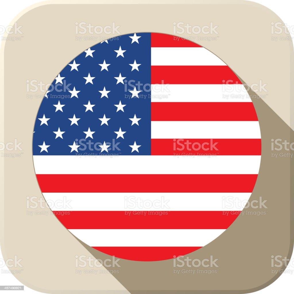 USA Flag Button Icon Modern royalty-free stock vector art