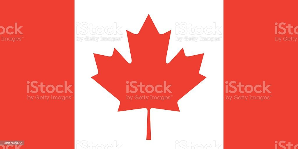 Flag Canada vector art illustration
