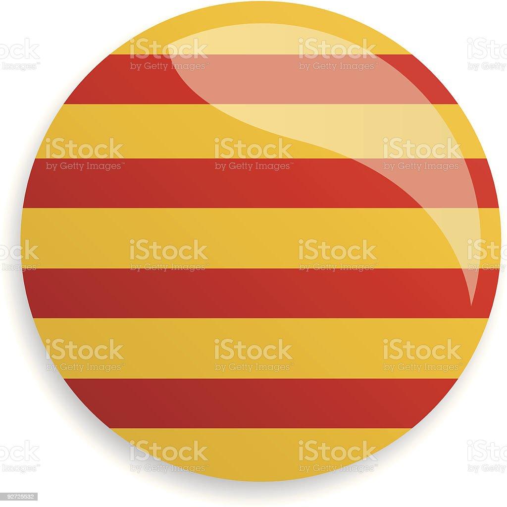 Flag Catalonia royalty-free stock vector art